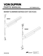 Von Duprin Parts Manuals for Exit Devices, Openers, & Trim