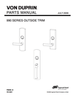 Von Duprin Parts Manuals for Exit Devices, Openers, & Trim