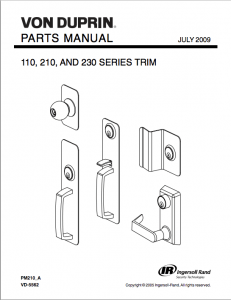 Parts Manuals for LCN & Von Duprin Exit Device Products
