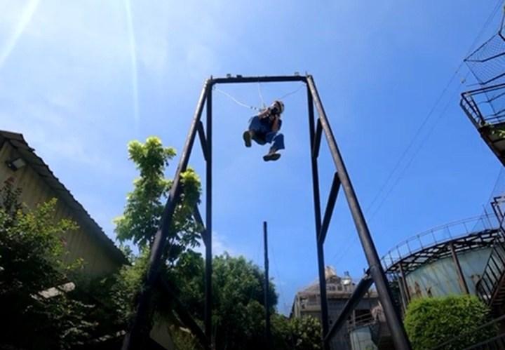 十鼓文創首創推出160度極限大擺盪全新挑戰~  (五層樓高俯衝擺盪快感~~ 15米高空急速墜落) @YA !野旅行-吃喝玩樂全都錄