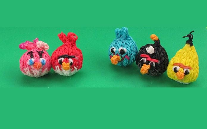Angry Birds из резинок - фото, схемы