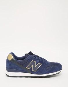 Темно-синие замшевые кроссовки New Balance 996