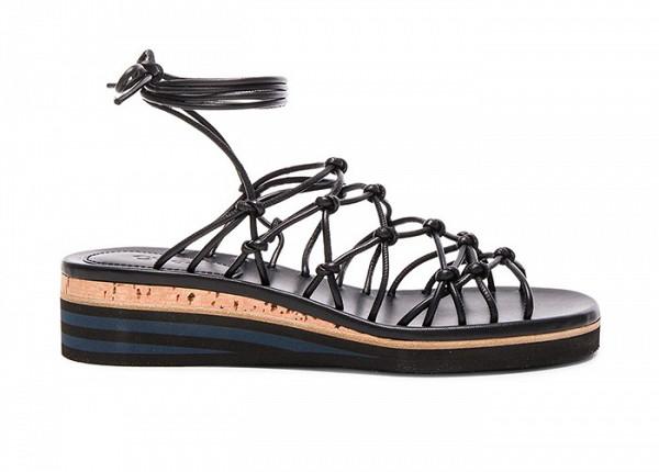 Модные сандалии на сплошной платформе