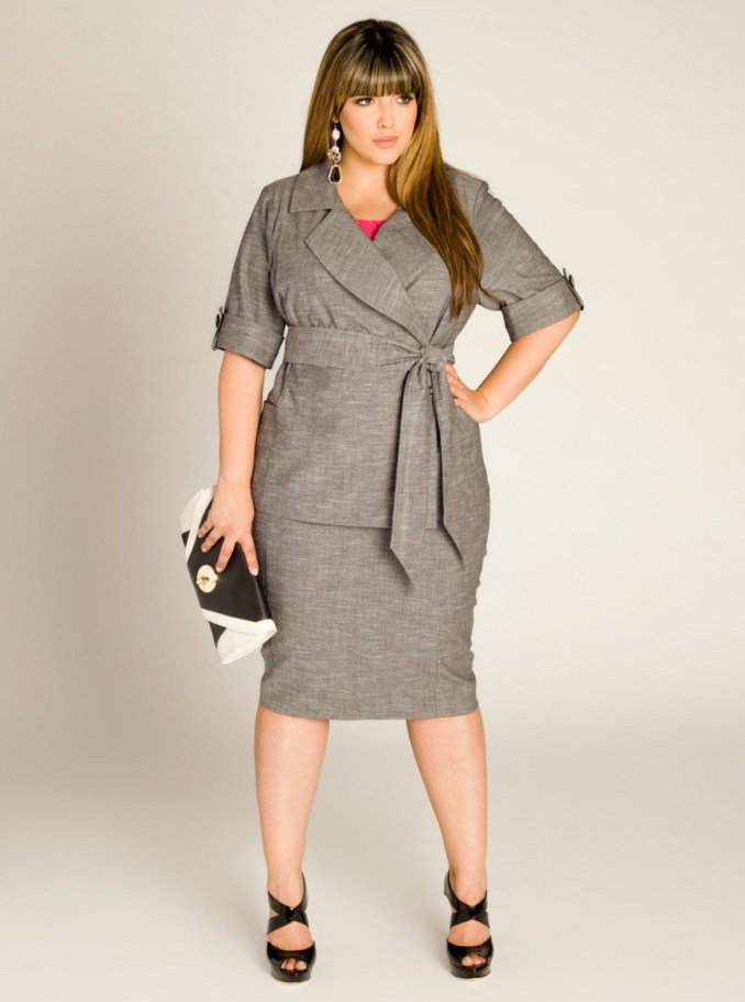 dress with a belt, a model of tight hips with a length below the knee, the style of the dress lengthens the legs and makes them more slim
