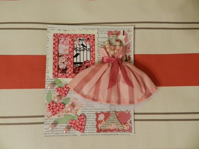 Как сделать открытку с платьем своими руками?