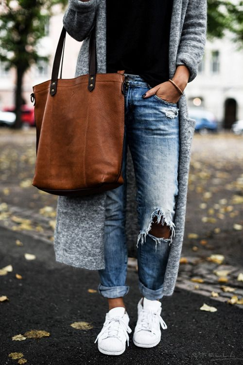 Boyfriend jeans, how to look thinner? 4