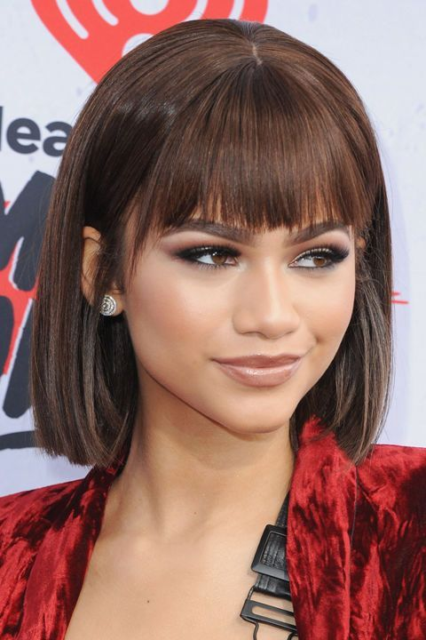 fashionable straight square with straight bangs