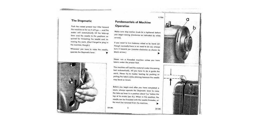 Pfaff 362-261 Instruction manual in English PDF-file