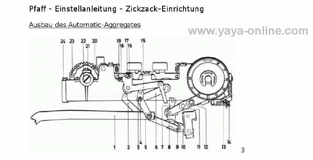 Yaya > Pfaff 1212 Service Anleitung für den Mechaniker