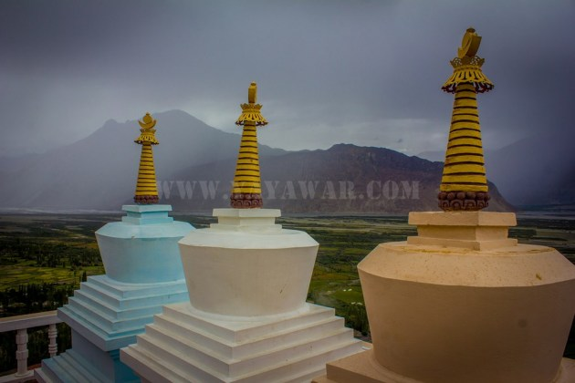 colourful chortens