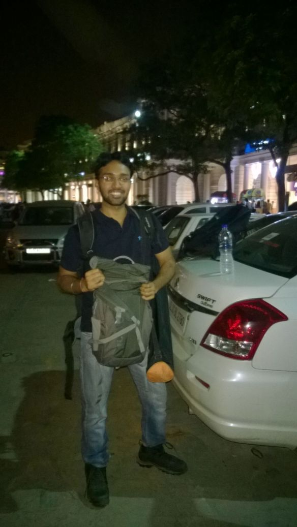 Aashish - all set to do a recce
