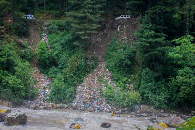 The reality of garbage disposal at Kasol