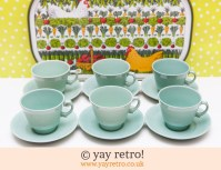 Large Beryl Tea Cups and Saucers