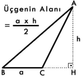 ucgenin-alani