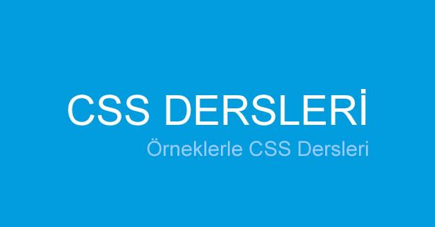 CSS dersleri