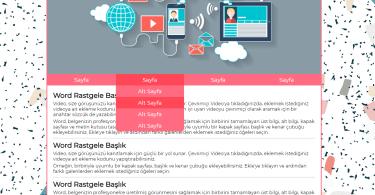 Web sayfası örnek tasarım css ve html-1