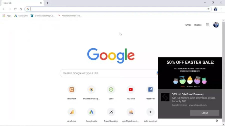 كيفية إيقاف تشغيل إشعارات Chrome على Windows10