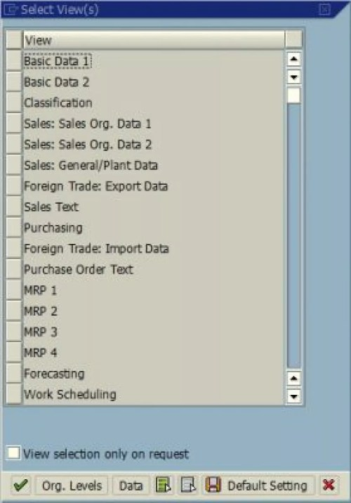 small resolution of sap find out which views are open for a material article list of material