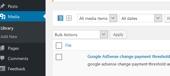Wordpress image thumbnail not generated : Thumbnail does not display