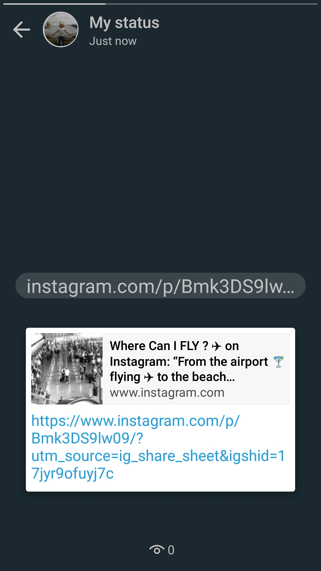 How to share Instagram videos on WhatsApp status