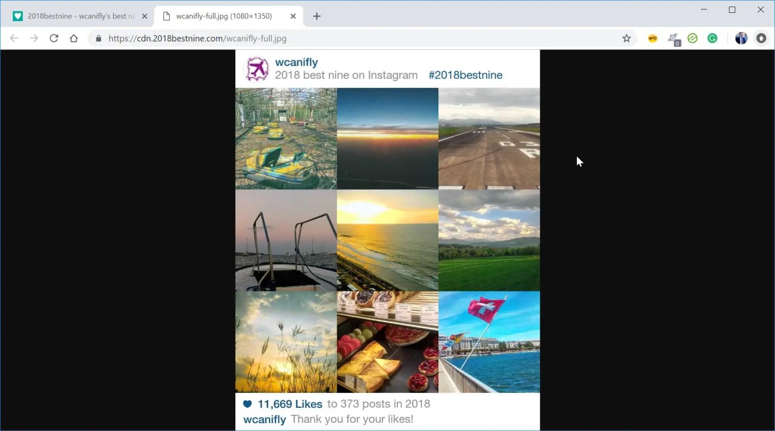How to make an Instagram best nine