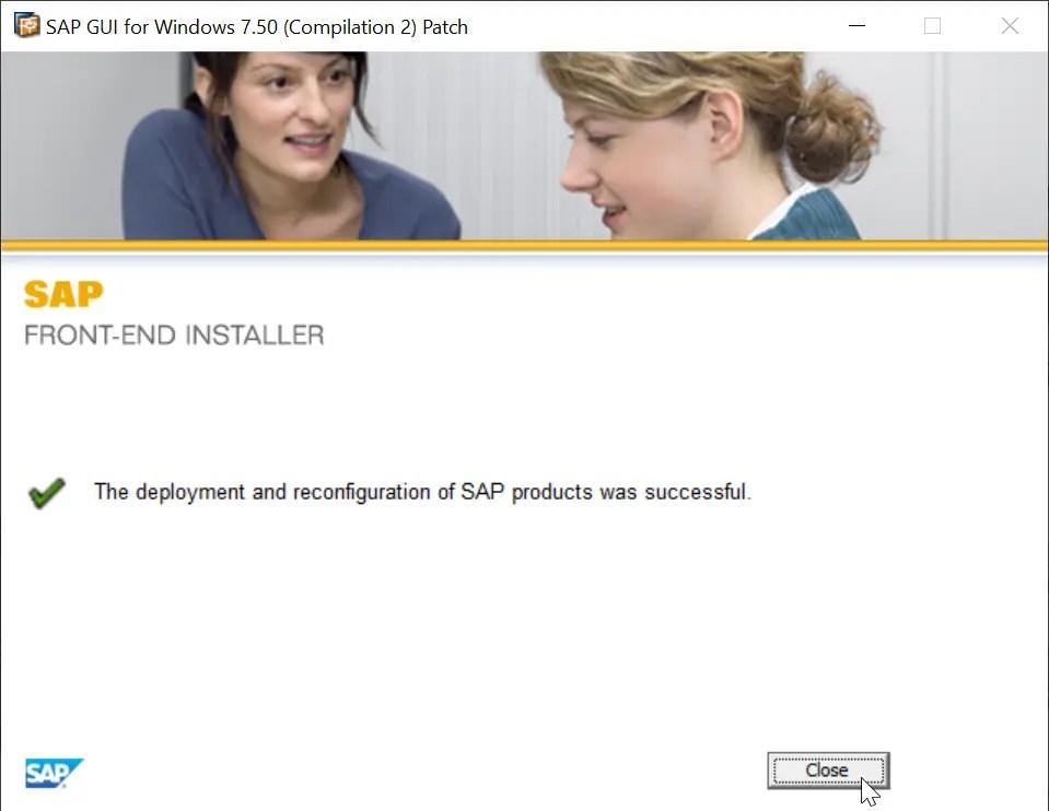 SAP GUI installation steps 750