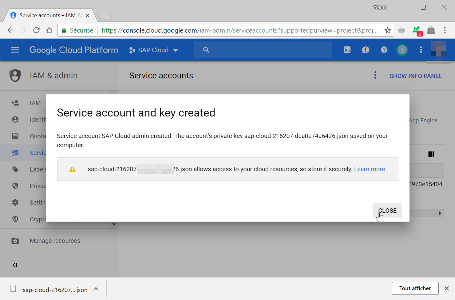 How to create a Google Cloud service account?