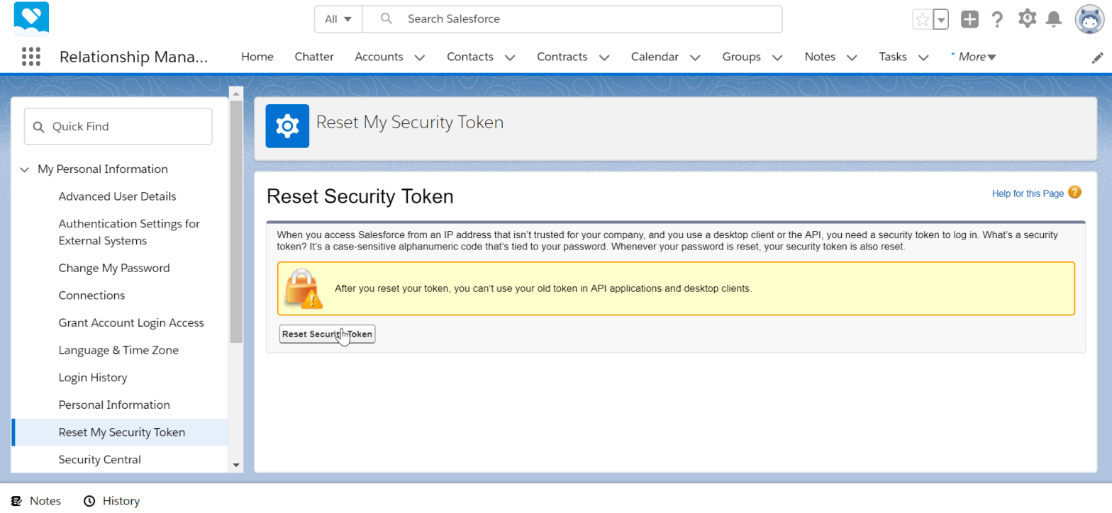 How to get security token in SalesForce Lightning?
