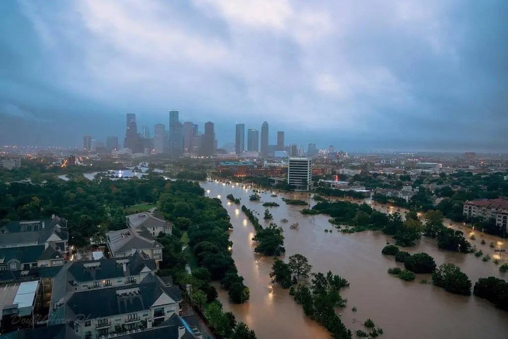Coast Guard conducting search and rescue in Houston