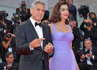George Clooney and Amal Clooney attend the 'Suburbicon' screening during the 74th Venice Film Festival at Sala Grande in Venice, Italy on September 2, 2017. Dominique Charriau/WireImage