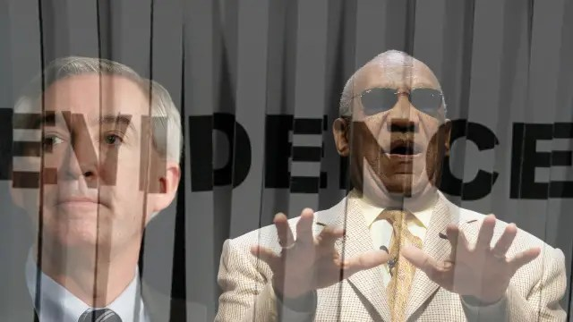 Montgomery County District Attorney Kevin Steele (left) & Comedian Bill Cosby (right).