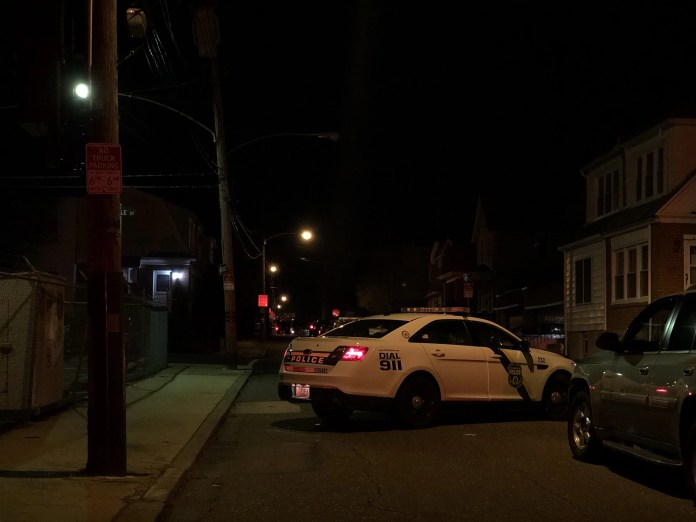 Philadelphia Police on the scene of a barricaded subject who shot his wife's mother before killing himself. (YC.NEWS PHOTO/NIK HATZIEFSTATHIOU)