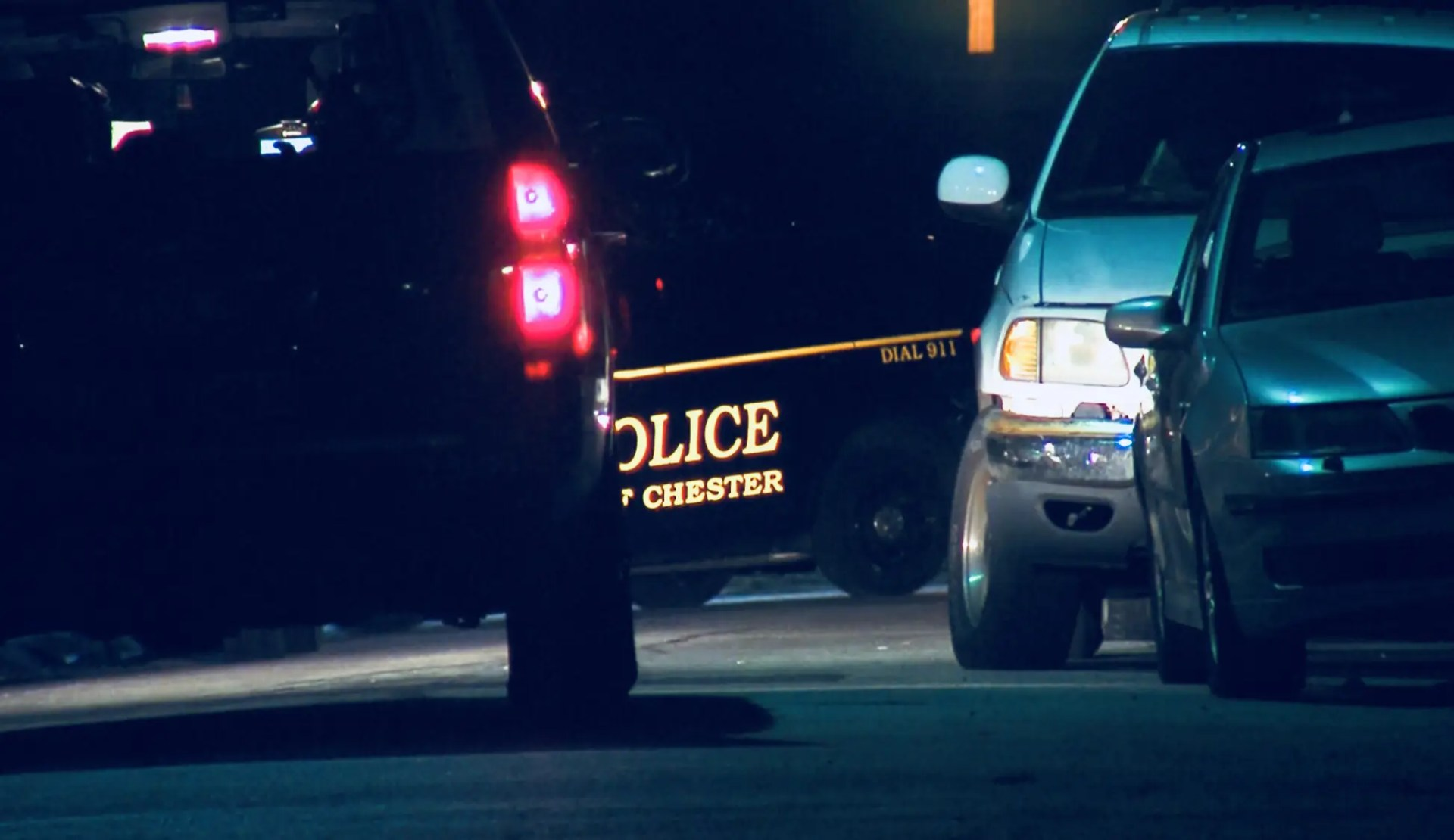 Chester City Police on location investigating the first two homicides of 2018. (YC.NEWS PHOTO/NIK HATZIEFSTATHIOU)