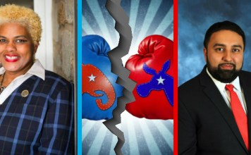State Rep. Margo Davidson (D-Pa.) left & Republican Candidate Inder Baines (R-Pa.) right. Photo: Getty Images/YC File Photo