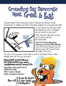 """Democratic """"Meet, Greet & Eat"""" event that took place on the same night as Margo Davidson's accident on Feb 2."""