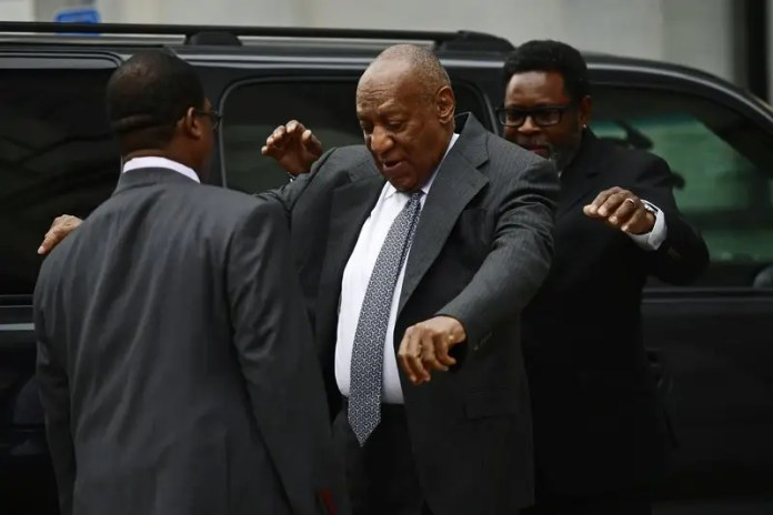 Bill Cosby arrives for jury selection in his sexual assault retrial at the Montgomery County Courthouse, Tuesday, April 3, 2018, in Norristown, Pa. (AP Photo/Corey Perrine)