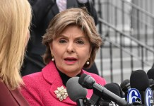 Gloria Allred standing next to her daughter, Lisa Bloom, outside of the Montgomery County Court of Common Pleas for the Bill Cosby trial. (YC.NEWS PHOTO/NIK HATZIEFSTATHIOU)