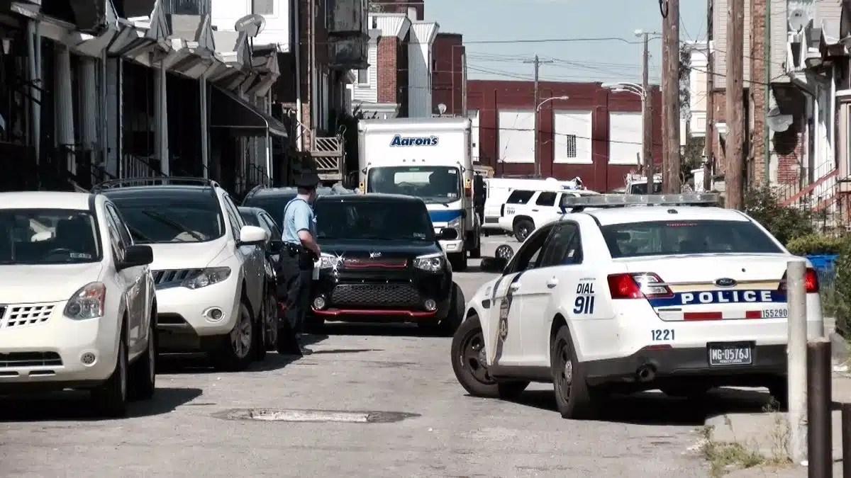 Philadelphia Police on location of one of three suspicious deaths in three days. (YC.NEWS/ERIC NORTON)