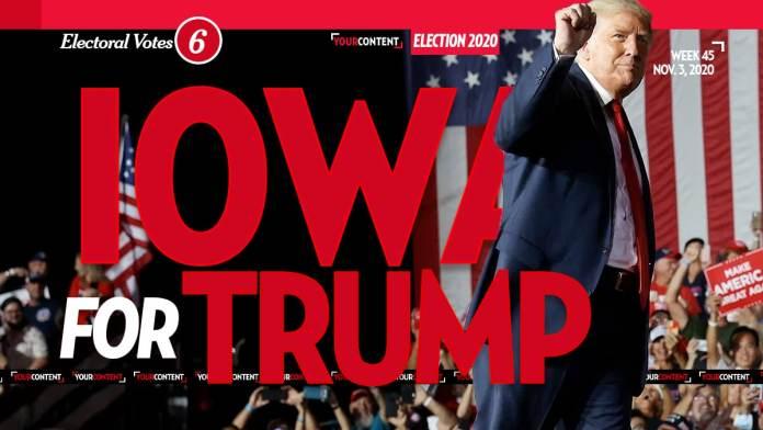President Donald Trump Wins Iowa