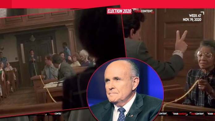 Rudy Giuliani Compares Philly Alleged Voter Fraud to Scene From 'My Cousin Vinny', Says Tanzania is More Honest than Philly