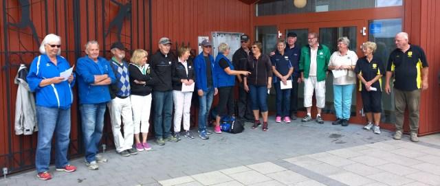 Pristagarna i Sten Sture Mixen, platserna 1-8 från vänster.