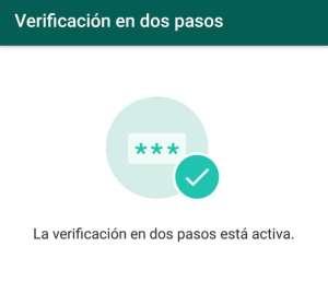 activar verificacion en dos pasos wasap