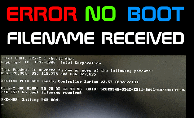 no boot filename received