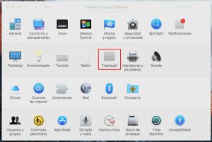 clic derecho en Mac
