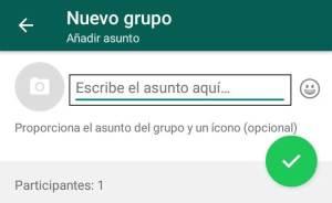 crear un grupo de whatsapp