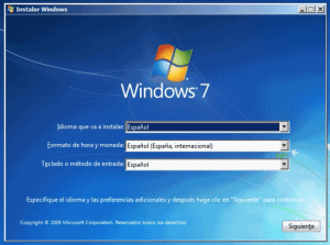 instalacion limpia windows 7