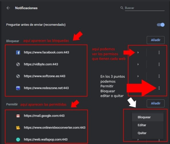 Quitar notificaciones google chrome