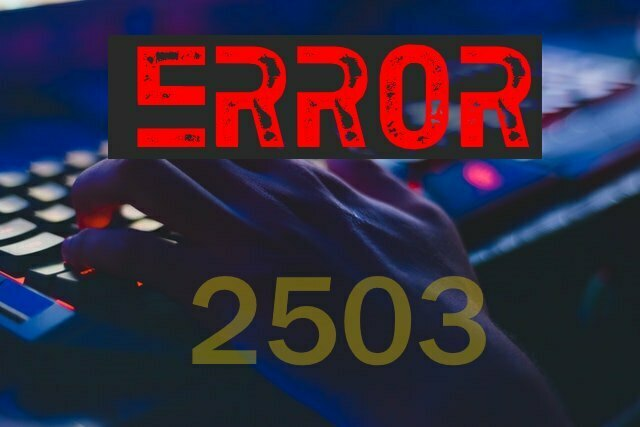 2503 fortnite error