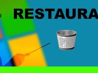 restaurar icono papelera