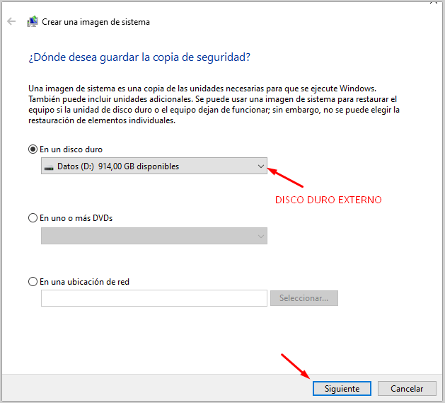 como se hacen copias de seguridad en windows 10
